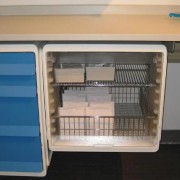 Modular wire shelves inside Unicell storage