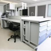 Lab configuration using Haworth and Unicell